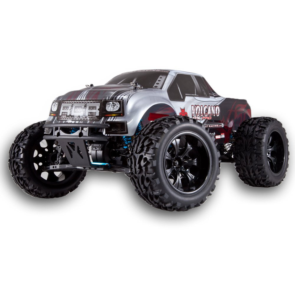 Redcat Racing Volcano EPX Pro 1:10 Scale Brushless RC Monster Truck, Silver by Redcat Racing