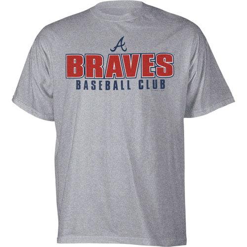 MLB - Atlanta Braves Steel Heather Team Logo Practice T-Shirt