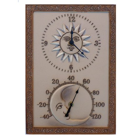 Acurite Indoor Outdoor Sun And Moon Decorative Clock