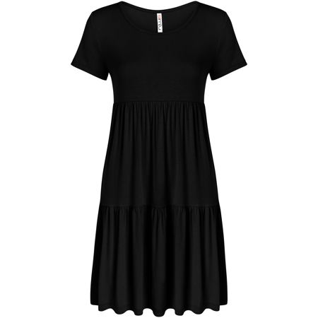 Casual Tiered T Shirt Dresses for Women Reg and Plus Size Summer Sundress - USA ()