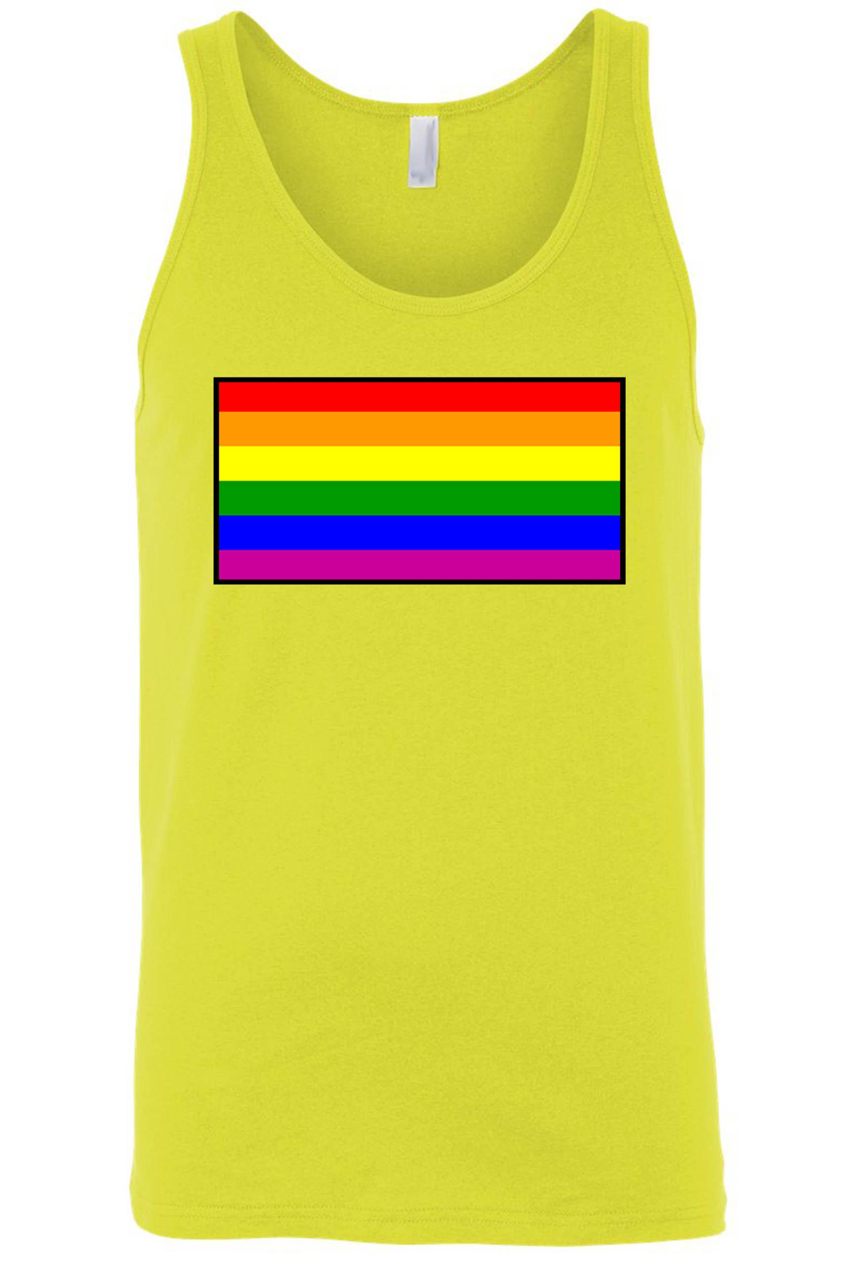 Men's Tank Top Shirt Gay Pride Rainbow Flag