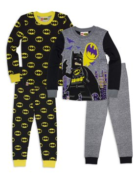 Lego Batman 4 Pc Pajama set(Little Boys & Big Boys)