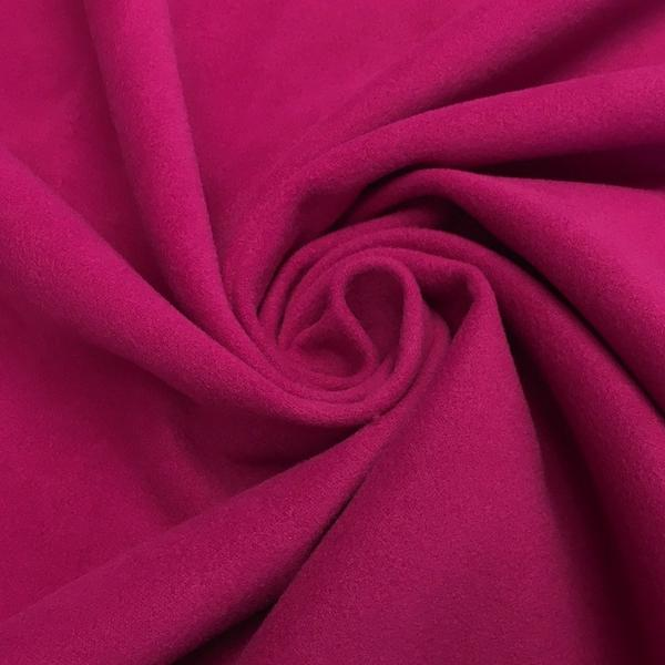 """Polyester Wool Fabric Brushed Coating 59"""" inches Wide Soft By The Yard Medium Heavy Weight (White)"""