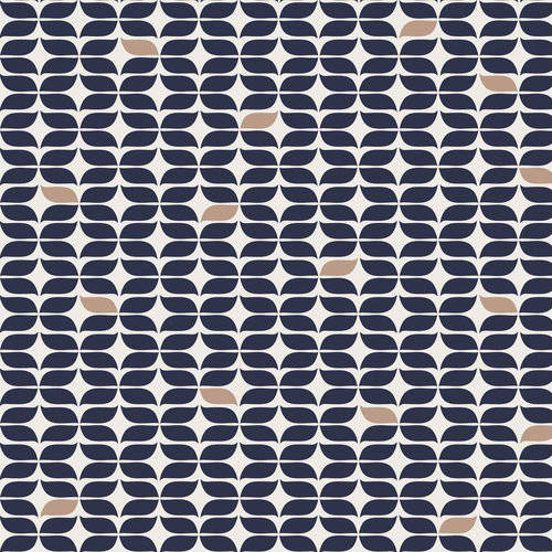 Emma & Mila Cotton French Knot in Navy Anchors Away Collection Fabric, per Yard