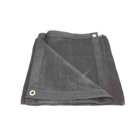 12' x 20' Black 70% Shade Mesh Tarps with Grommets ROLL-OFF (Cinnamon Roll Tart)