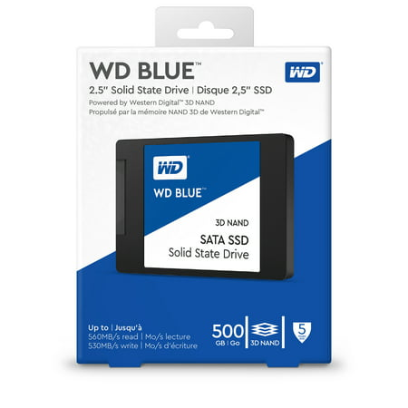 WD Blue 2.5-Inch 3D NAND SATA SSD 500GB - WDBNCE5000PNC-WRSN