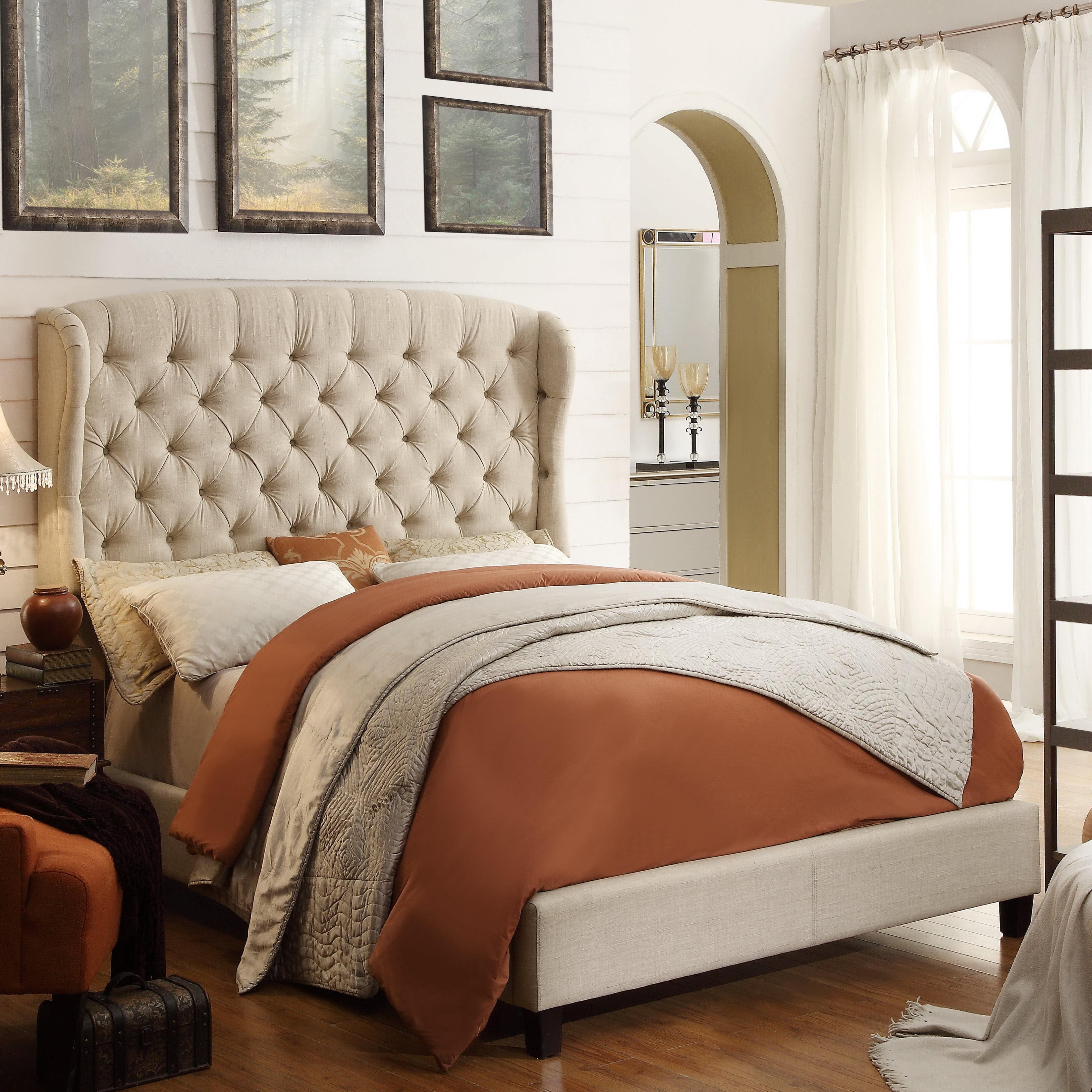 Alton Furniture Cicilia King Upholstered Platform Bed, Beige by Fully Wind Co, Ltd.