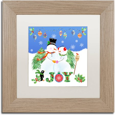 Birch Snowman (Trademark Fine Art