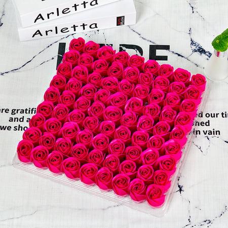 81Pcs Scented Rose Flower Petal Bath Body Soap, Exquisite Rose Petals Soap Wedding Party Anniversary (Rose Petal Scented Bath)