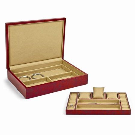 Blonde Burlwood High Gloss Finish Jewelry Box (High Gloss Jewelry)