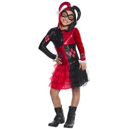 Rubie's Costume Girls DC Comics Harley Quinn Costume, Medium, Multicolor