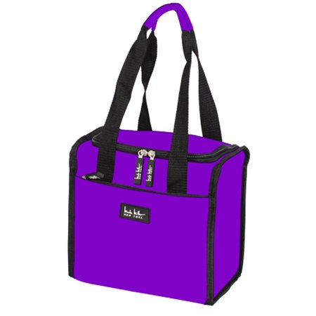 Nicole Miller 11 Insulated Lunch Box Portable Cooler Bag Purple