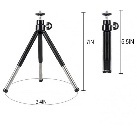 """eCostConnection 7"""" Extendable Mini Tripod + with Universal Smartphone Mount and Bluetooth Wireless Remote Control Camera Shutter for Smartphones & Microfiber Cloth - image 6 de 8"""