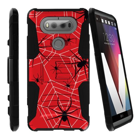 LG V20 Case | V20 Case Shell [Clip Armor]- Premium Defender Case Hard Shell Silicone Interior with Kickstand and Holster by Miniturtle® - Spiders and Webs (Defender Spider)