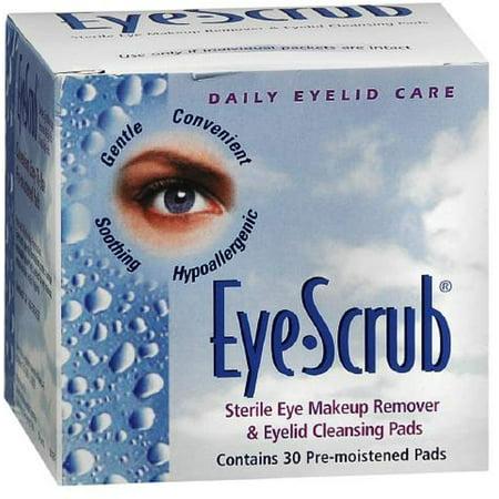 3 Pack - Eye Scrub Sterile Eye Makeup Remover & Eyelid Cleansing Pads 30 ea (Cleansing Eye)
