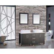 MTD Vanities Aruba 71'' Double Sink Bathroom Vanity Set with Mirror