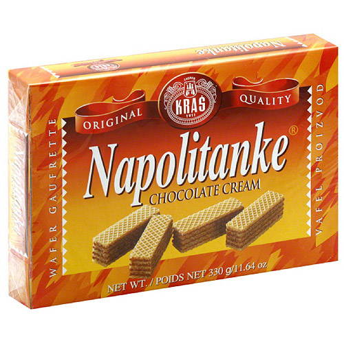 Kras Napolitanke Chocolate Cream Wafers, 11.64 oz, (Pack of 12)