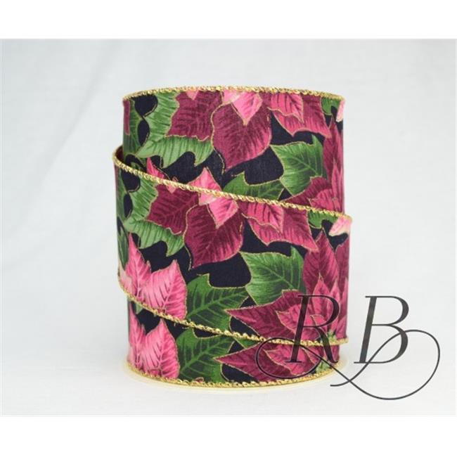 Ribbon Bazaar 6061 Wired Traditional Christmas Patterns Ribbon, 2.5 in. 214 - 10 Yards