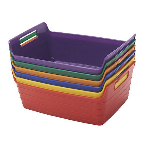 ECR4Kids Plastic Bendi-Bin with Handle (Set of 6)