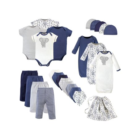 3117c1c13 Touched by Nature - Organic Baby Shower Layette Gift Set, 25pc (Baby Boys)  - Walmart.com
