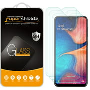 [3-Pack] Supershieldz for Samsung Galaxy A20 Tempered Glass Screen Protector, Anti-Scratch, Anti-Fingerprint, Bubble Free