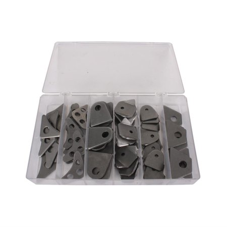Roll Cage Tubing Chassis Weld Gusset/Tab Kit, 60 Piece