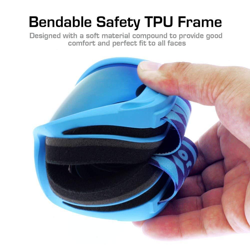 PICADOR Ski Goggles Over The Glasses Anti-Fog UV400 Protection Lens Youth Kids - image 6 de 8