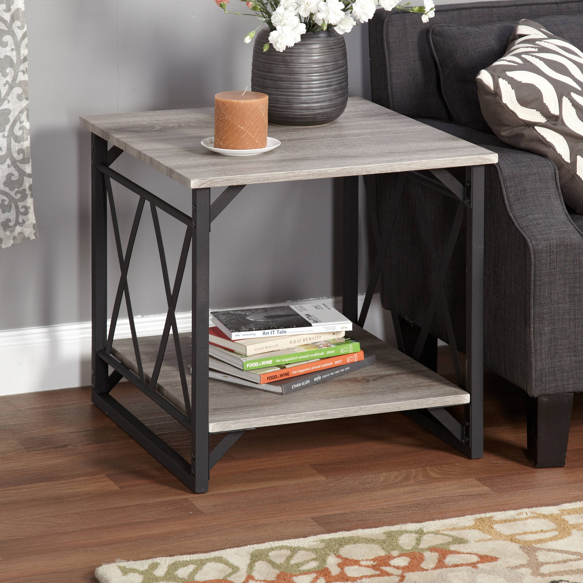 . Jaxx Collection End Table  Multiple Colors   Walmart com
