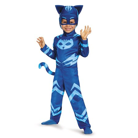 Catboy Classic Toddler PJ Masks Costume, Medium/3T-4T, Product Includes: Jumpsuit with detachable tail & soft headpiece By Disguise