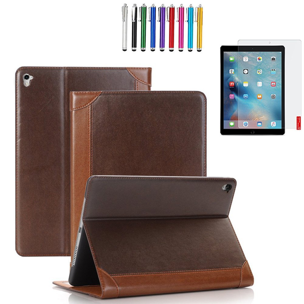"Mignova iPad Pro 9.7"" Case , Card Pocket Auto Sleep/Awake [Kickstand][PU Leather Folio] For iPad Pro 9.7"" 2016 (iPad Pro 9.7"", Brown)"