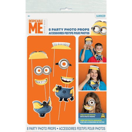 Minion Decoration Ideas ((3 Pack) Despicable Me Minions Photo Booth Props,)