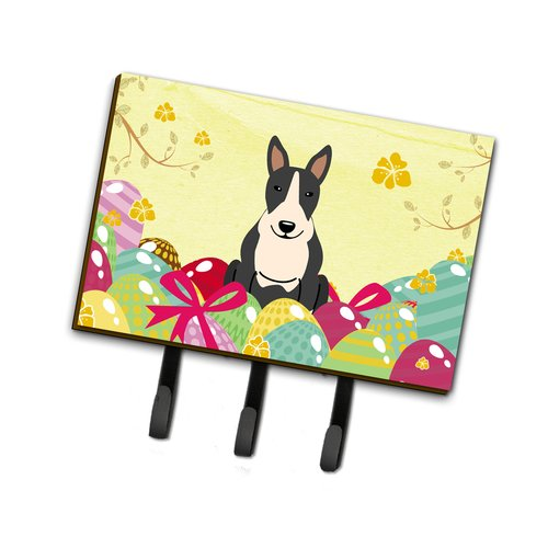 The Holiday Aisle Easter Eggs Bull Terrier Leash or Key Holder