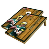 Aaron Rodgers Green Bay Packers 2' x 3' Player Vintage Authentic Tailgate Toss Set - No Size