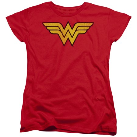 Dc/Wonder Woman Logo Dist S/S Women
