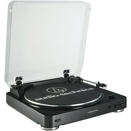 Audio-Technica AT-LP60BK Fully Automatic Belt-Drive Stereo Turntable