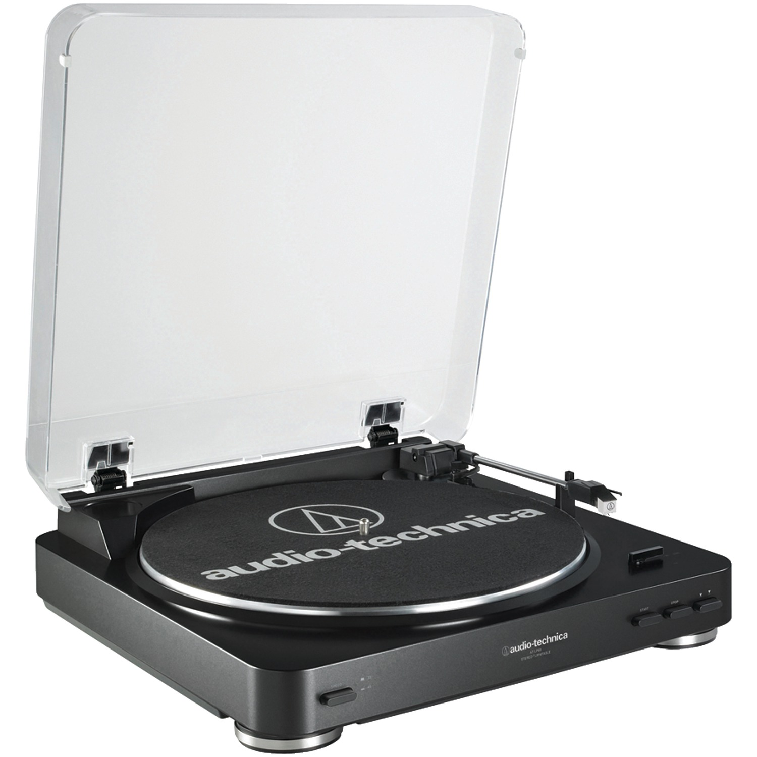 Audio-Technica AT-LP60BK Fully Automatic Belt-Drive Stereo Turntable (Black)