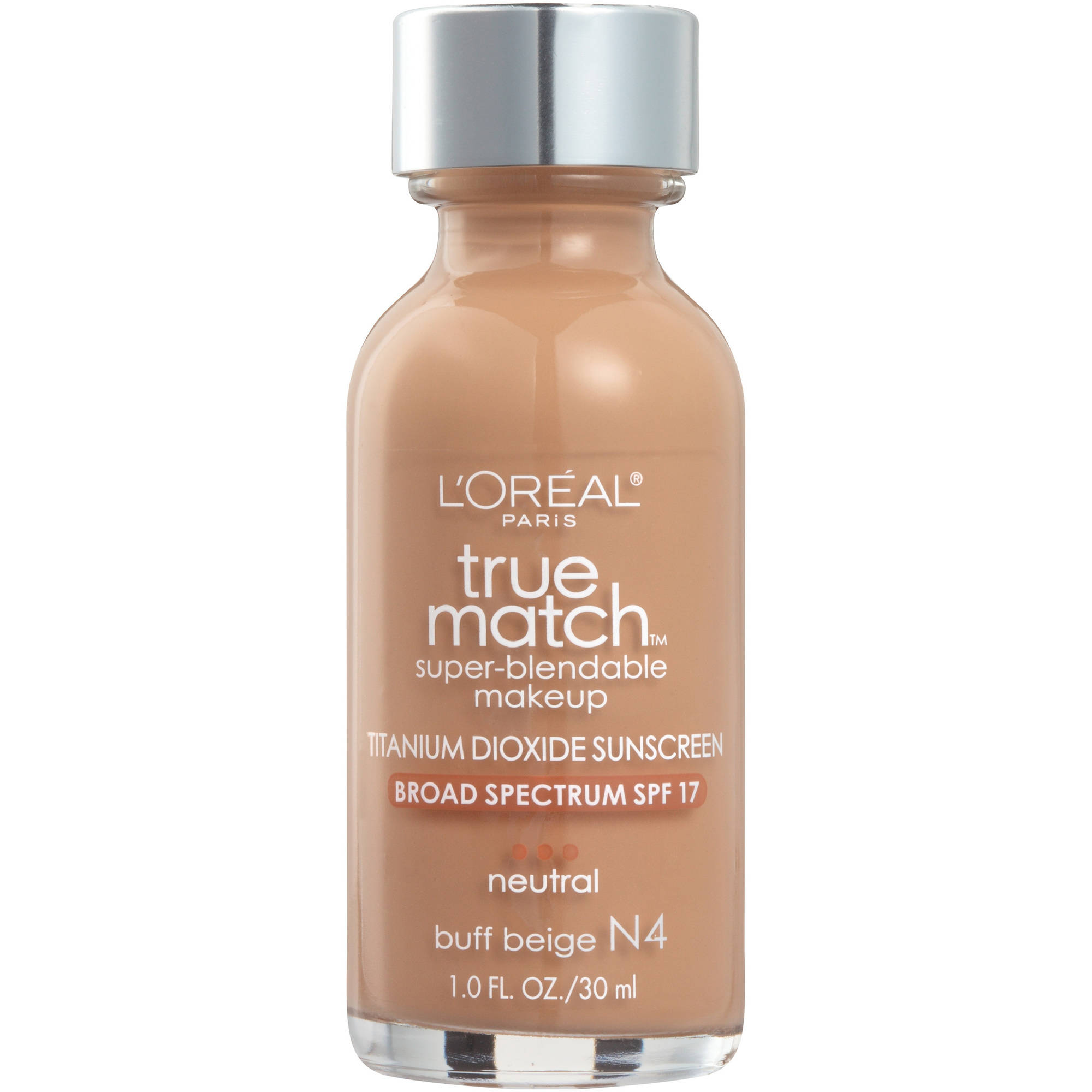 L'Oreal Paris True Match Super Blendable Makeup Foundation, N4 Buff Beige, 1.0 fl oz - Walmart.com