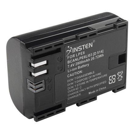 Insten Decoded LP-E6 Battery pack 2800mAH For Canon EOS 5D Mark III II 60D 70D 6D 7D Camera DSLR Camera LPE6 Replacement