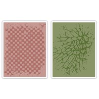 Tim Holtz Alterations Texture Fades Embossing Folders, Checkerboard & Cracked