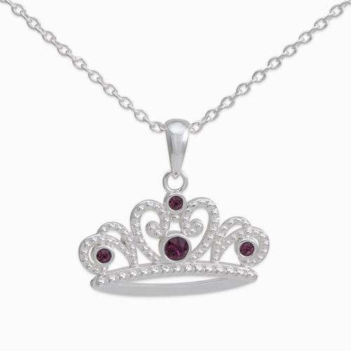 Disney - Disney Brass Tiara Princess Sofia Pendant W/ Ch