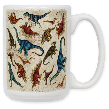 15 Ounce Ceramic Coffee Mug - Dinosaur Toss - Dinosaur Mug
