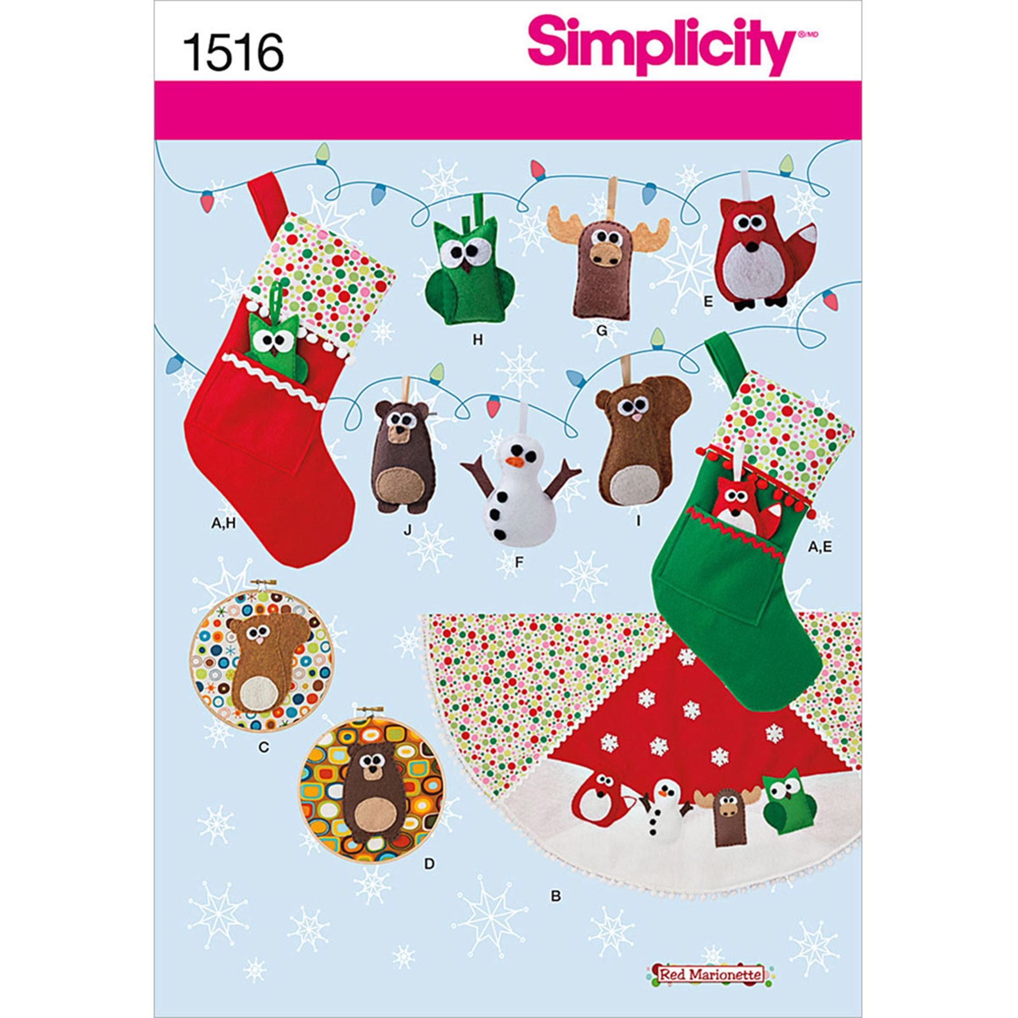 Simplicity Patterns Crafts Holiday, One Size