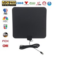 [LATEST 2020] Amplified HD Digital TV Antenna - Support 4K 1080p Fire tv Stick and All Older TV's Indoor Powerful HDTV Amplifier Signal Booster - 13.2ft Coax Cable/AC Adapter