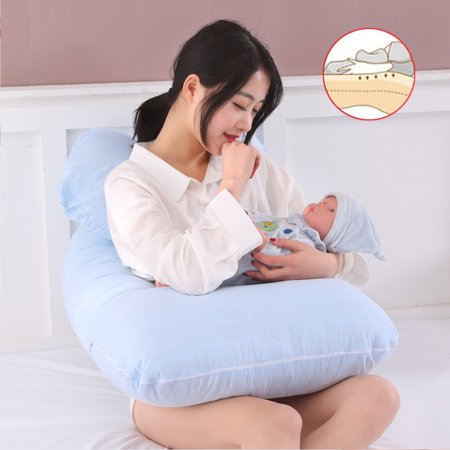 Large U Shape Total Body Pillow Pregnancy Maternity Comfort Support Cushion Sleep Nursing Maternity Sleep bed Pillow Baby Care Blue - image 7 of 9