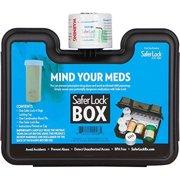 Medication and Prescription Pill Lock Storage Box with Combination Lock 5.5 x 7.5 x 3.1 Inches (Black)