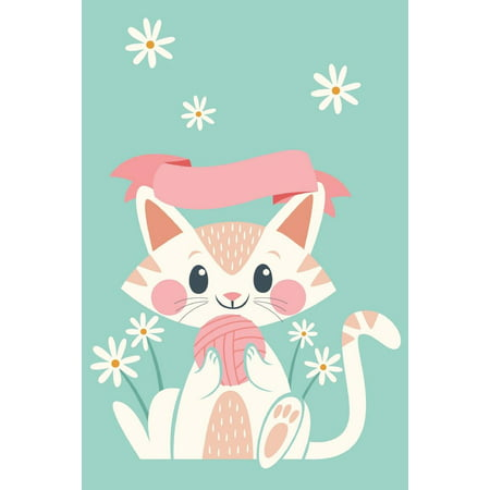 Discreet Password Book : Never Forget a Password Again! 6 X 9 Lovely Kitten on Green Background Design, Password Book with Tabbed Large Alphabet, Over 400 Record User and