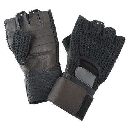 Condor Anti-Vibration Gloves, Leather Palm Material, Black, M, PR 1 -