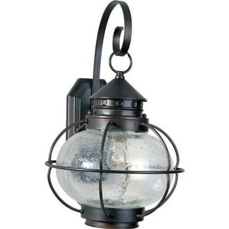 Portsmouth Outdoor Wall Lantern in Oil Rubbed Bronze Size: