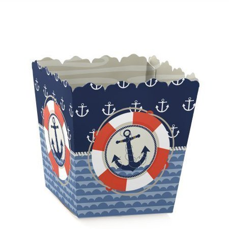 Ahoy - Nautical - Party Mini Favor Boxes - Baby Shower or Birthday Party Treat Candy Boxes - Set of covid 19 (Baby Shower Treat Bags coronavirus)