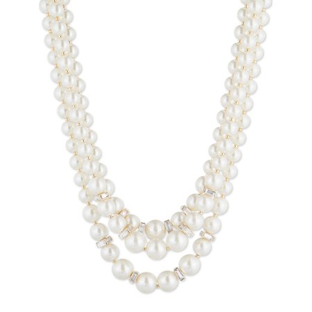 Glass Pearl Nested Beaded Necklace